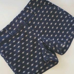 Dalia navy embroidered pattern shorts size 6